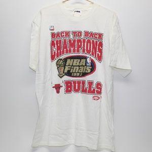 Vintage Chicago Bulls Back to Back Champions Shirt